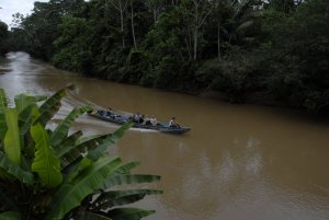 boating down the Shiripuno